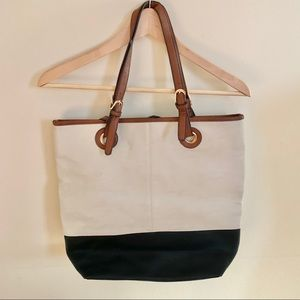 Cream, Brown, & Black Bag From Call It Spring